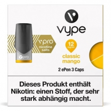 2x Vype ePen 3 Caps vPro Classic Mango