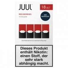 4x JUUL Pods Red Berries 18mg/ml