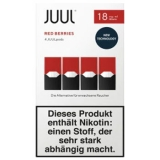 4x JUUL Pods Red Berries 18mg/ml