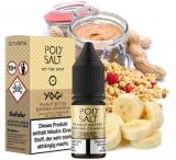 POD SALT Fusions: Peanut Butter Banana Granola (10ml, 20mg Nikotinsalz) Liquid